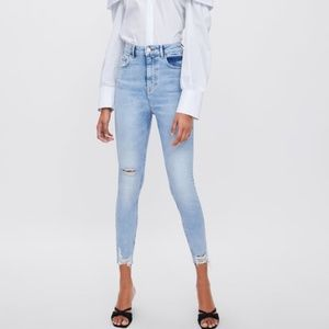 Zara high waisted jeans, 38( US 6), new